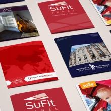 Zestaw prac w zakresie folderów reklamowych