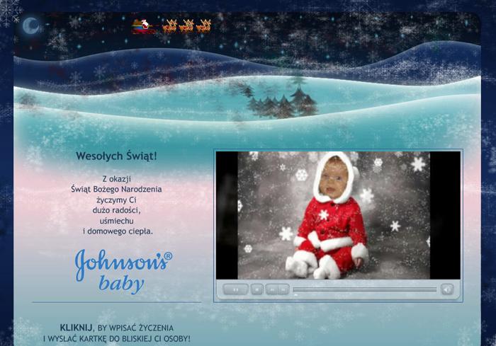 Kartka świąteczna dla Johnson's Baby